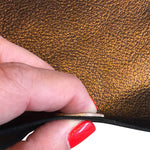 Copper Metallic Leather Hides for Crafting Fabric and Upholstery Supply