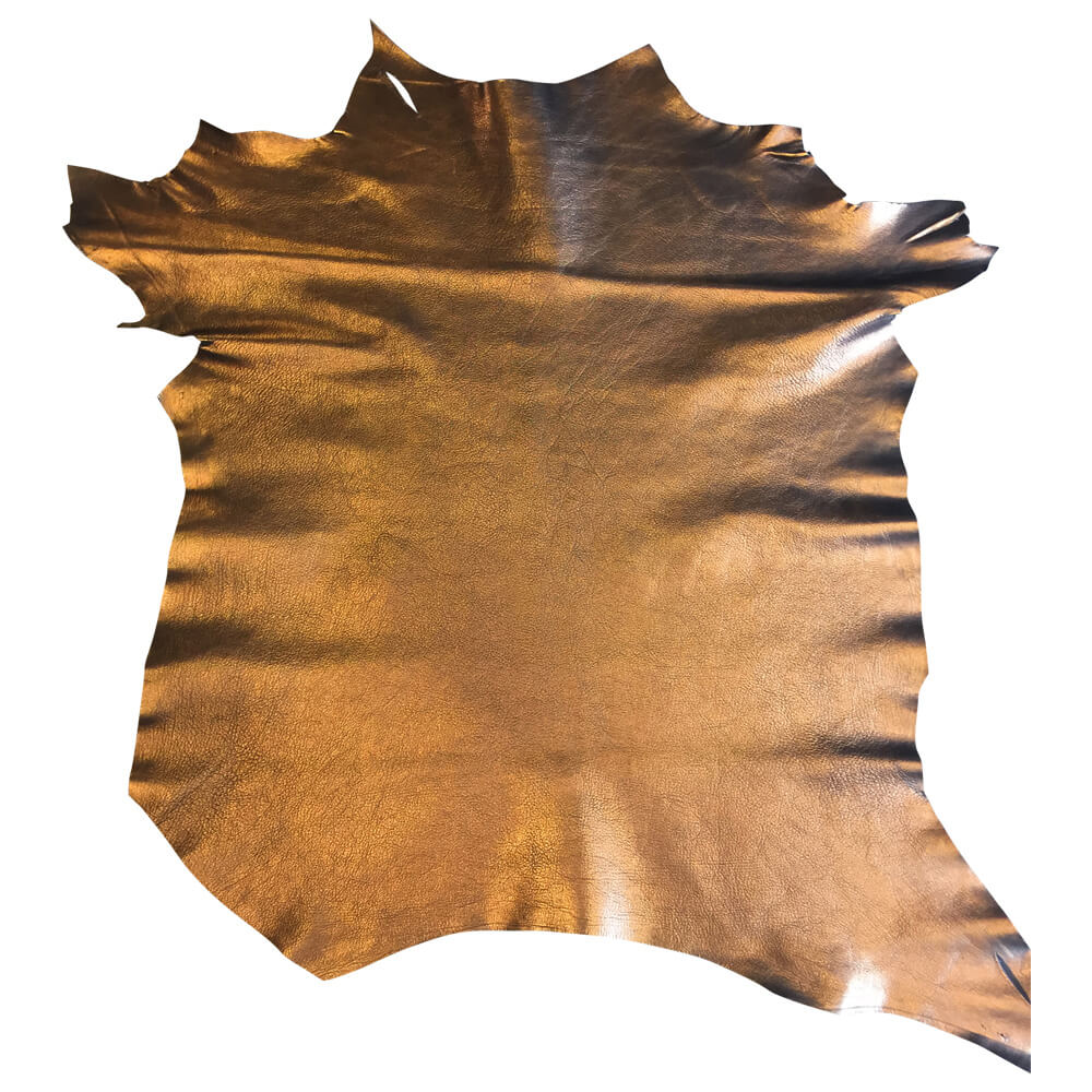 Copper Metallic Leather Hide for Upholstery supply
