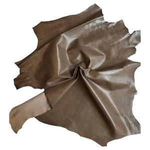 On Sale Brown Genuine Leather Hide for Crafting and Upholstery projects