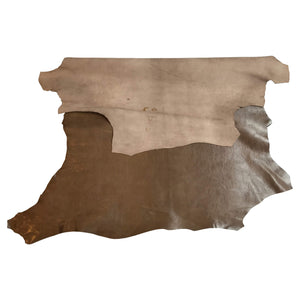 Brown Genuine leather hides perfect for crafts or upholstery material in Soft Lambskin