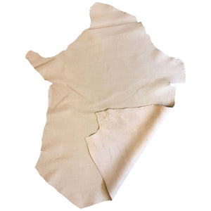 Genuine Leather Hides Beige Snakeskin Embossed for Crafting