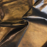 Copper Genuine Leather Hide, Snakeskin Embossing for Crafting and Upholstery Projects