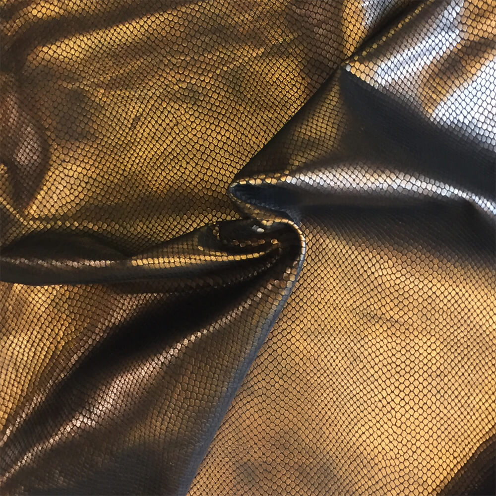 SALE Copper Genuine Leather Hide, Snakeskin Embossing for Crafting and Upholstery Projects
