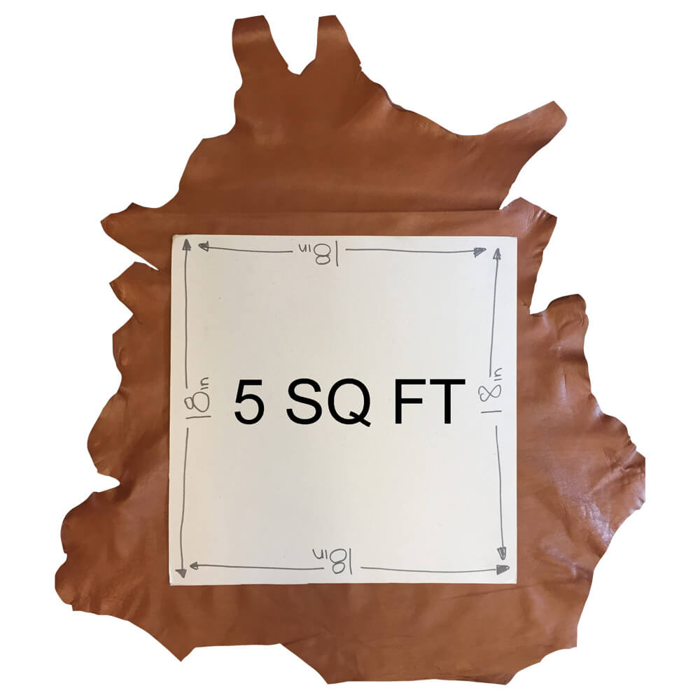 SALE Cognac Brown Genuine leather hides perfect for crafts or upholstery material in Soft Lambskin