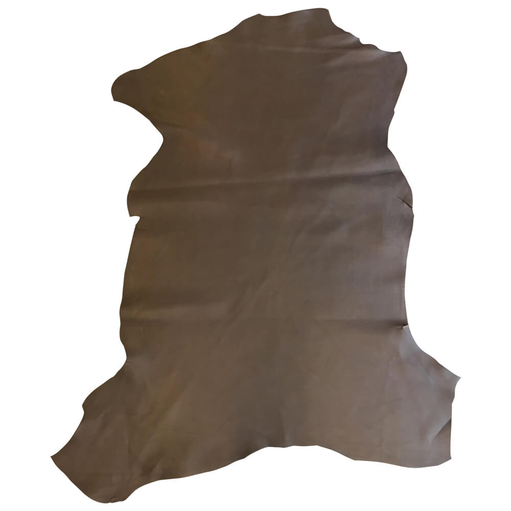 Dark brown genuine lambskin leather skins perfect for upholstery and craft projects