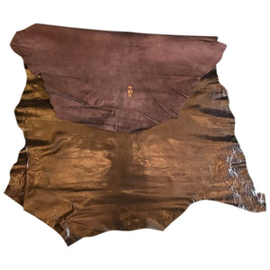 Dark Brown Genuine Leather Perfect Craft Fabric and Upholstery Material Supply