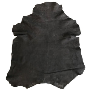 Black Suede Leather Hides for crafts