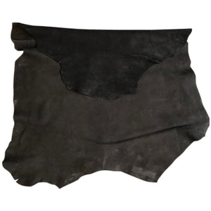 Black Suede Genuine Leather Hides Rustic Soft Finish Great Craft DIY Fabric