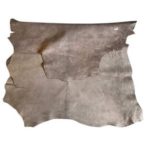 Dark Beige Genuine Leather Hides for Crafting and Sewing material