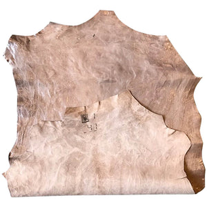 Tan Genuine Leather Hides Great for Crafting or Upholstery Material with a Genuine Rustic Finish