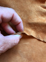 Cognac Brown Genuine Goatskin leather hides perfect for crafts or upholstery material #63