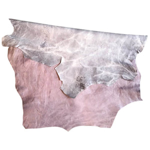 Genuine Lilac Colored Leather Hide Rustic Finish Veg Tanned Great for DIY or Craft Projects