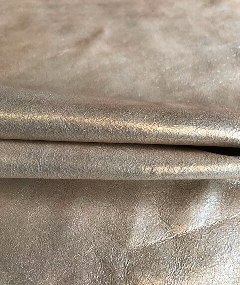 Champagne colored genuine leather hides for sale