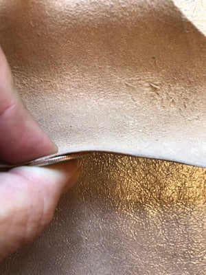 Champagne Rose Genuine Leather Hide Perfect for Sewing and Crafting Material