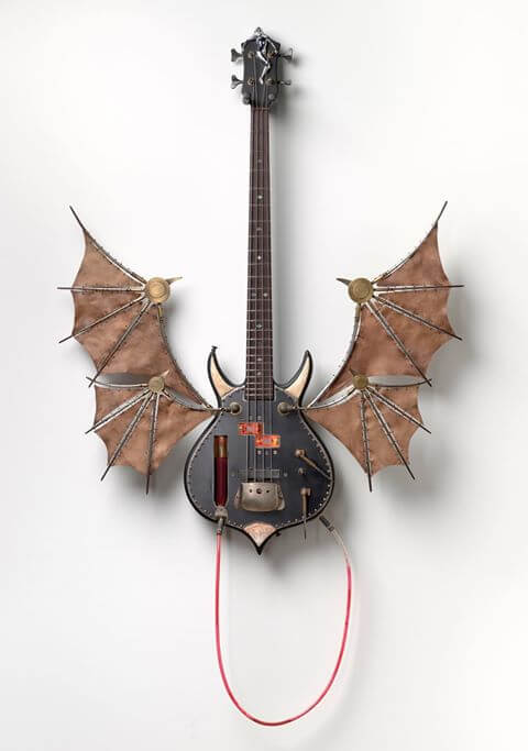 Guitar for Gene Simmons made from Leather from Leather Treasure Shop