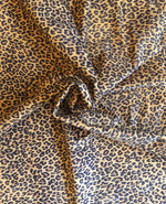 Leopard print genuine leather hide for upholstery