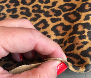Thickness of Leopard print genuine leather hide