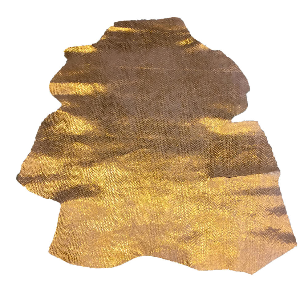 Gold Genuine Leather Hides for Craft Supply