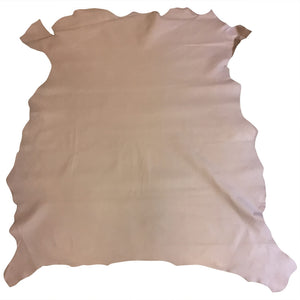 Beige leather hides in genuine calfskin with pebble finish perfect craft material