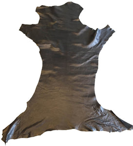 Black Soft Genuine Lambskin Leather Hides Perfect for Crafting and DIY Home Decór Projects
