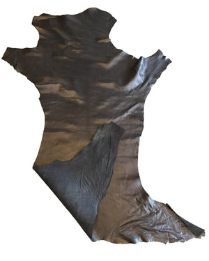 SALE Black Genuine Leather Hides Perfect for Crafting and DIY Home Decór Projects
