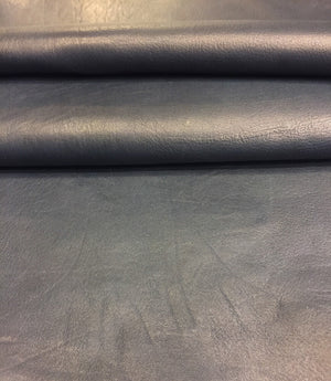 Dark Blue Genuine Lambskin Leather Hide Perfect for Upholstery Projects and Craft Material