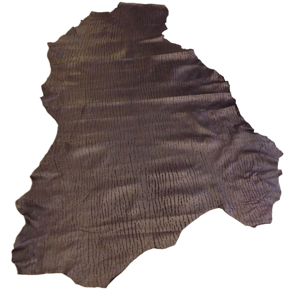 SALE Black Leather Hides Genuine Suede with a Razor Cut Finish Perfect for DIY and Crafts