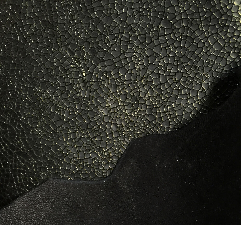 SALE Green Black Genuine Leather Hides for Crafting and DIY supply
