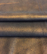SALE Brown Copper Metallic Genuine Calfskin Leather Hides for Home Decór and Craft Material