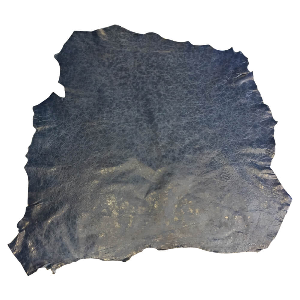 Blue Genuine leather hides for Sale