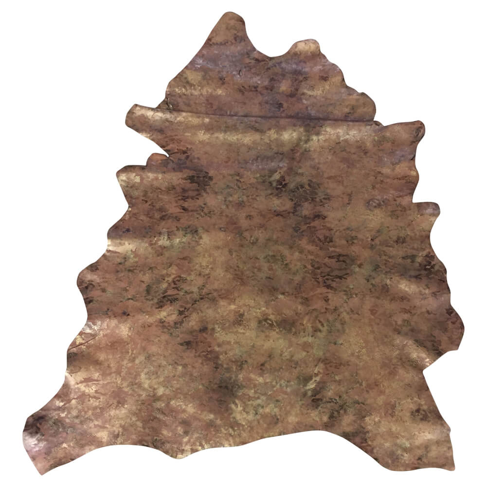 Brown Camouflage Printed Leather Hide Perfect Crafting Material and DIY Supply