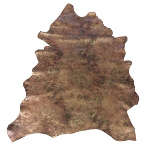Brown Camoflauge Print Genuine Leather Hides for Crafting and DIY