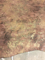 Brown Genuine Leather hides Camouflage Print Perfect Crafting Material and DIY Supply