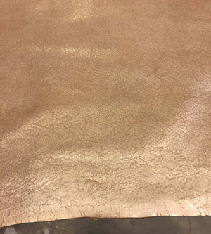 SALE Beige Lambskin Leather with a Metallic Finish Sheepskin Hide Great DIY Craft Material