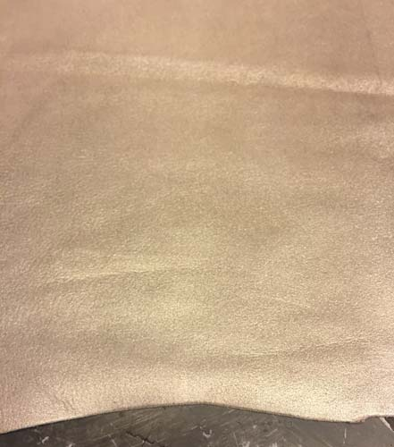 Sparkly Silver Lambskin Leather Metallic Finish Sheepskin Hide DIY Craft Material