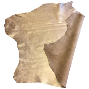 SALE Lambskin Authentic Genuine Leather Hide Pearlescent Skin Tanned Champagne Sheepskin Hides