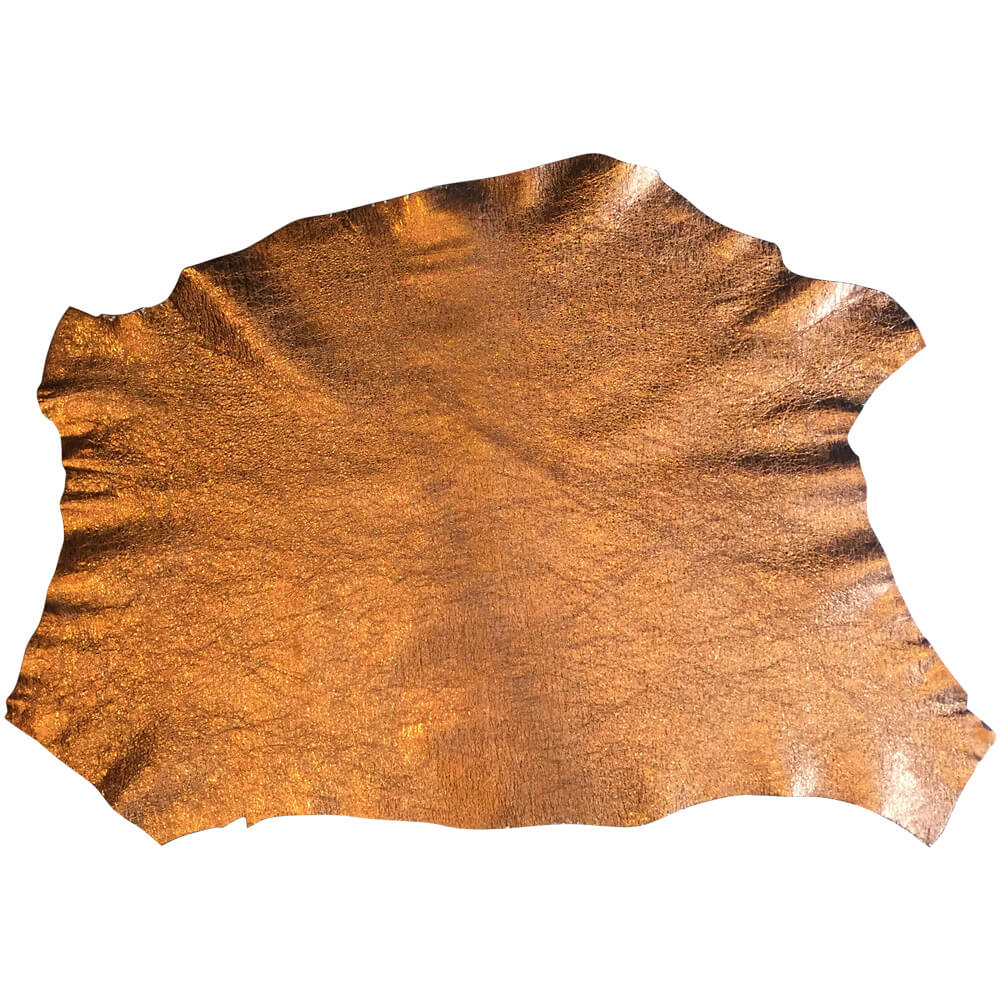 Copper Metallic Genuine Leather Hies for Crafts