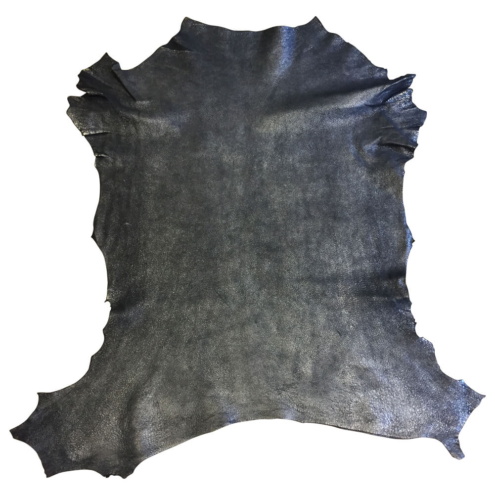 SALE Dark Blue Natural Lambskin Leather with a Metallic Finish a Soft Hide great for DIY Craft Material