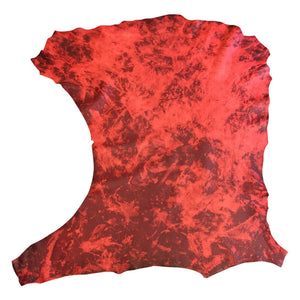 Lambskin Genuine Nappa Leather Animal Hides Red Tanned Craft Sheepskin Material