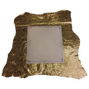 Gold Leather Metallic Large Bubble Finish Pigskin Hide DIY Craft Material