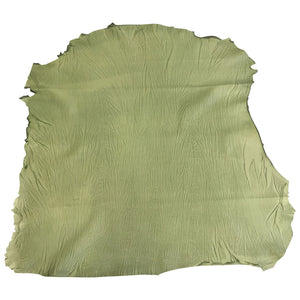 Lambskin Genuine Nobuck Leather Animal Hides Green Suede Tanned Craft Sheepskin Fabric