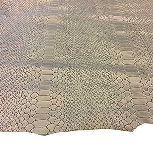 snakeskin-embossed-genuine-grey-leather-hide-lambskin-skins-fs950