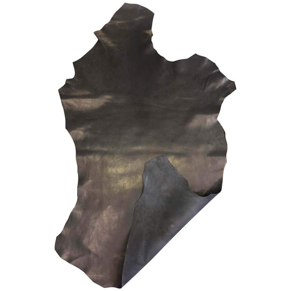 Soft Black Genuine lambskin leather hides for upholstery projects