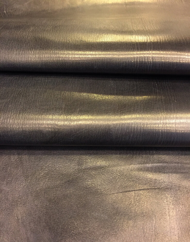 SALE Black Genuine Lambskin Leather Hides Rustic Soft Finish Great Craft DIY Fabric