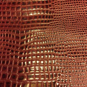 burgundy-genuine-calfskin-leather-snakeskin-embossed-hide-fs959