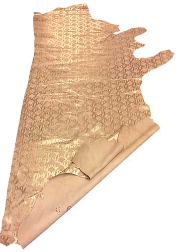 genuine-pink-cowhide-tanned-leather-silver-snakeskin-pattern-hide-craft-skins-fs960