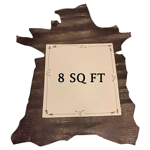 size-genuine-calfskin-leather-skins-snakeskin-embossed-hides-fs961