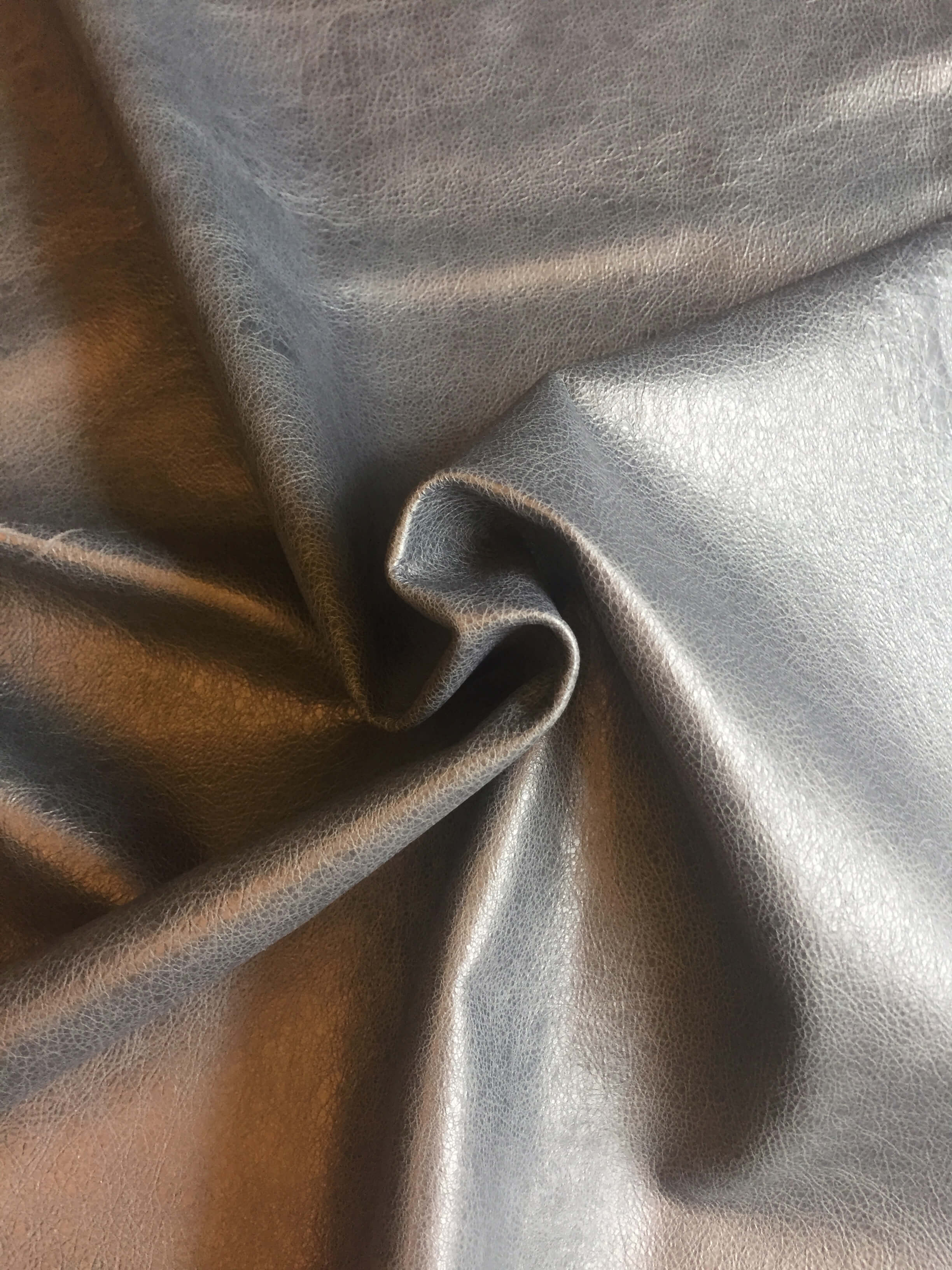 Soft Blue Leather Hides Genuine Lambskins with a Rustic Finish for Home Decór and Upholstery Supply