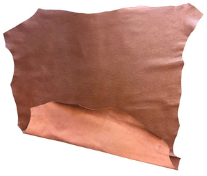 Brown Cognac Genuine Leather Goatskin Hides with Textured Finish Great for Craft Projects
