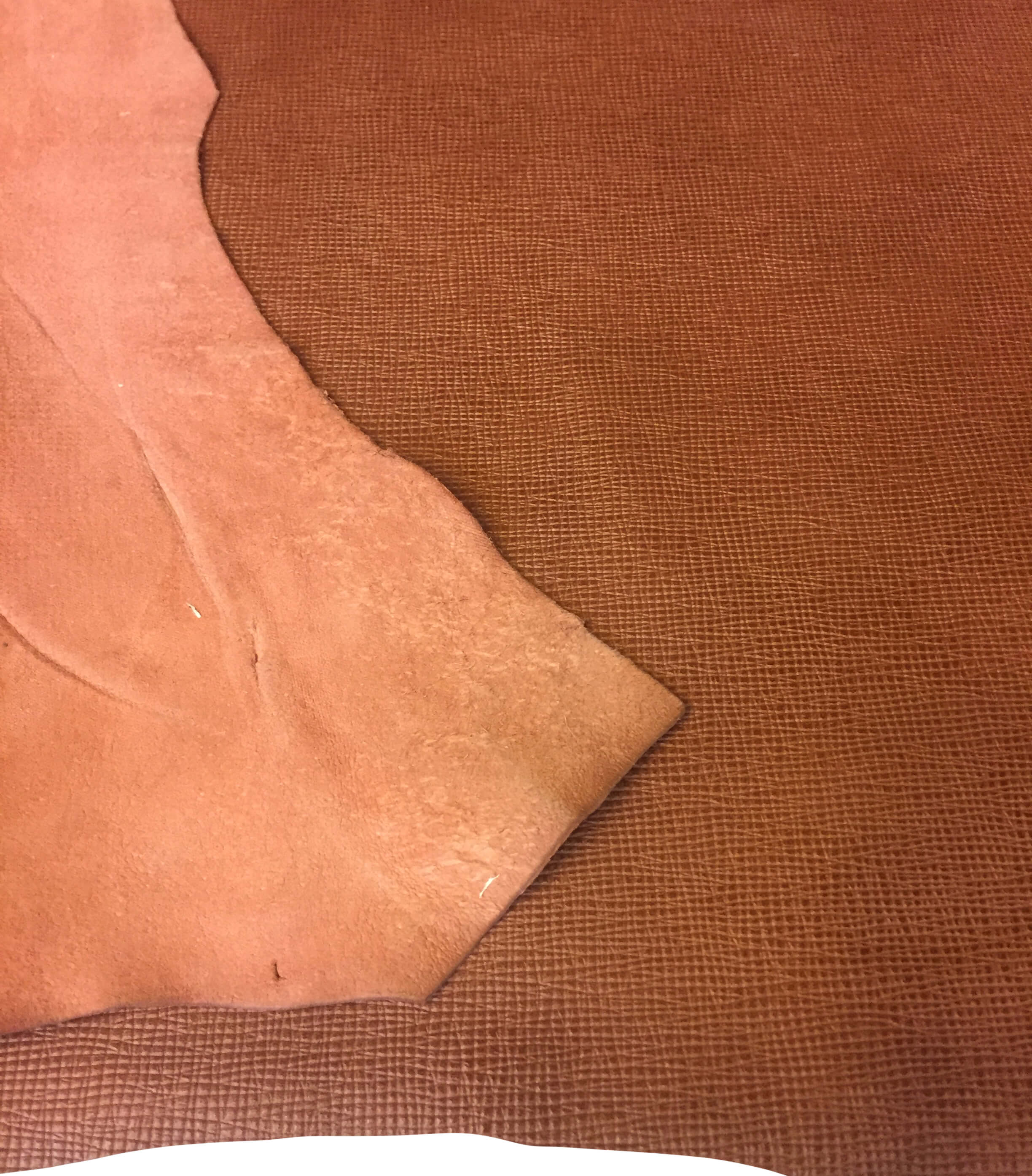 Sale Brown Cognac Genuine Leather Goatskin Hides with Textured Finish Great for Craft Projects